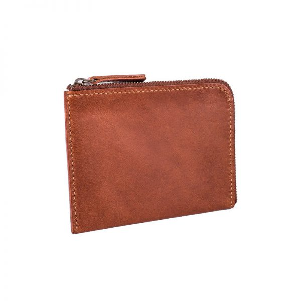 Zip wallet brown