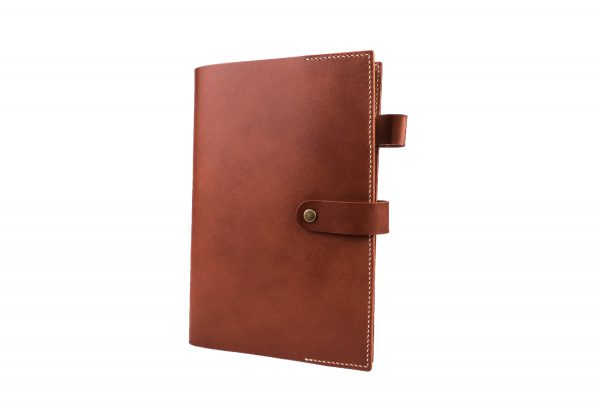 leather notebook brown
